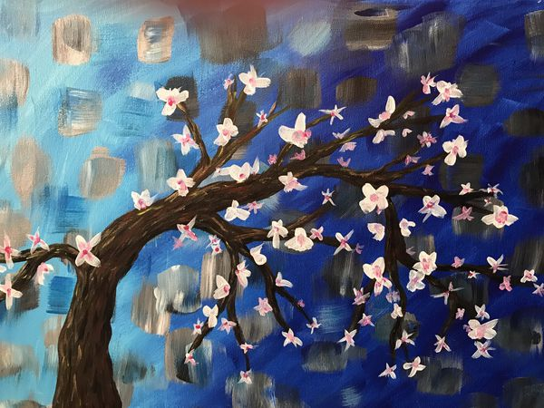 Cherry Blossoms On Twisting Tree For Sale In San Antonio