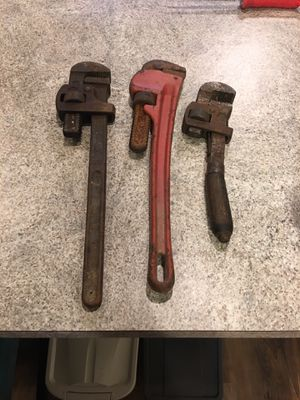 3 pipe (monkey) wrenches for Sale in Gambrills, MD