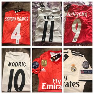 Adidas Real Madrid Home and 3third CL Men's Jersey sale for Sale in Chevy Chase, MD