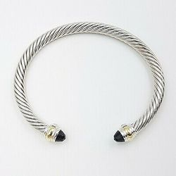 David Yurman 5mm Black Onyx Gold Bracelet Thumbnail