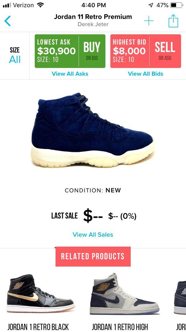ba9180858b27 Nike Jordan Jeter 11 High prem Size 9.5 pads OG all for Sale in Spring  Valley