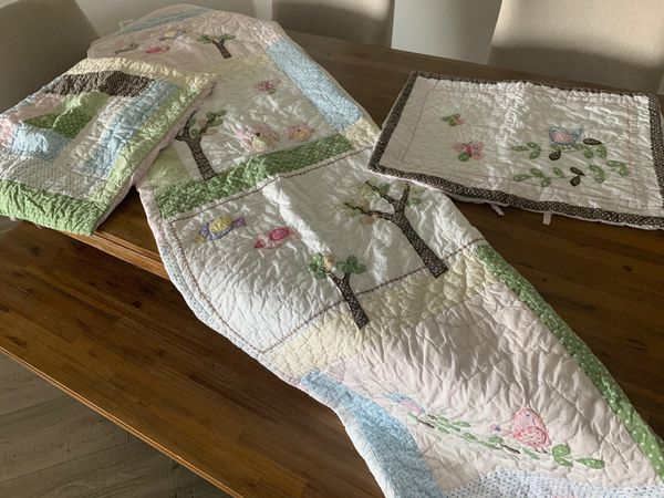 Pottery Barn Kids Hayley Twin Bedding Set Quilt Shams Owl
