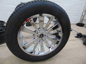 Photo Brand New 275 55 20 Advanta Tires and 20X9 Chrome Platinum Rims*6 Lug*