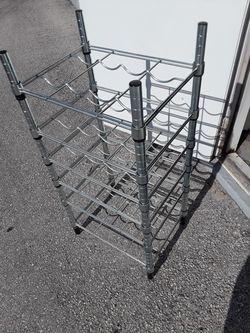 Stainless steel wine rake / shelf , fits 24 wine bottles Thumbnail
