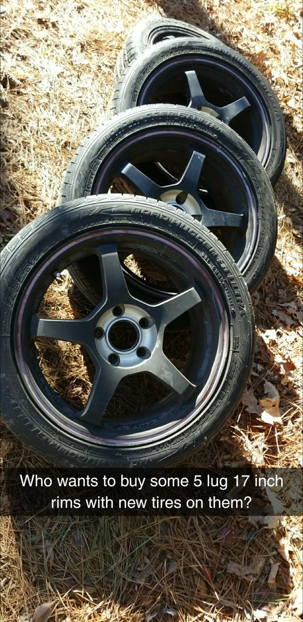 5 Lug 17 Inch Rims With New 225 Tires For Sale In Durham Nc Offerup