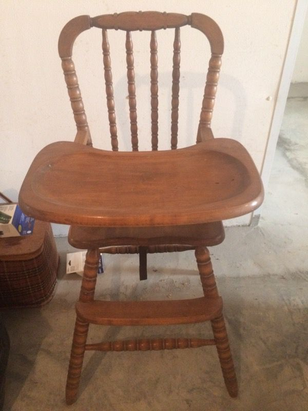 - Antique Wooden High Chair (Antiques) In Chattanooga, TN - OfferUp