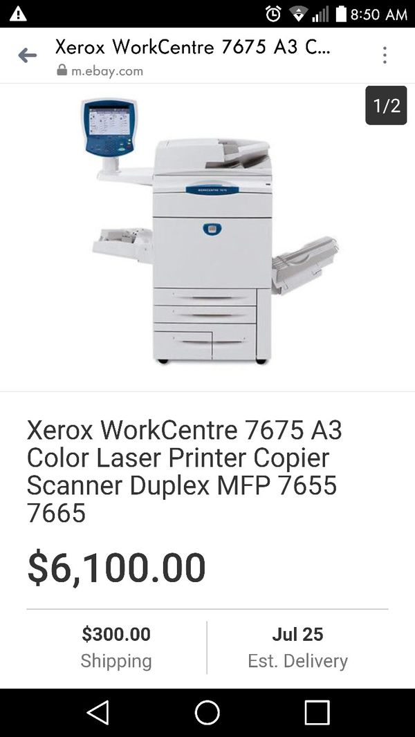 Xerox Workcentre 7655 Color Copier Printer Scanner 13x19 MFP Laser 7665  7675 for Sale in San Pedro, CA - OfferUp