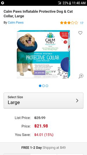 Calm Paws Protective Dog Collar for Sale in Oviedo, FL