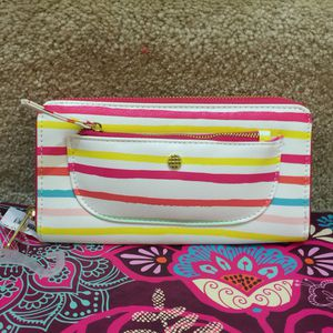 Beautiful multicolor stripped wallet for Sale in Silver Spring, MD