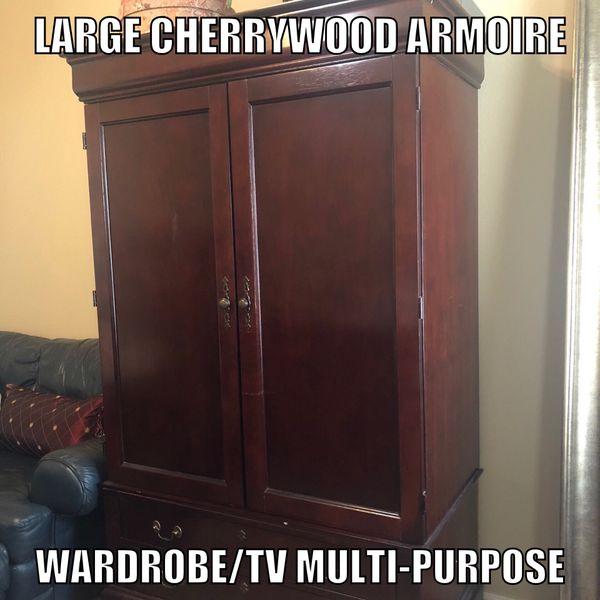 Large Cherrywood Armoire For Wardrobe Tv In San Antonio Tx Offerup