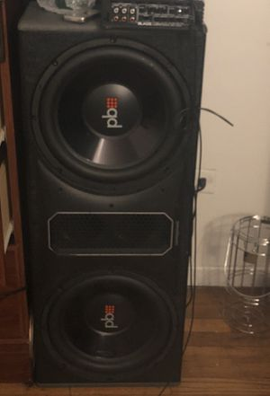 Music for sale powerbass subwoofer 12inch 1200 Watts with blade 1500x5 amp  for Sale in New York, NY - OfferUp