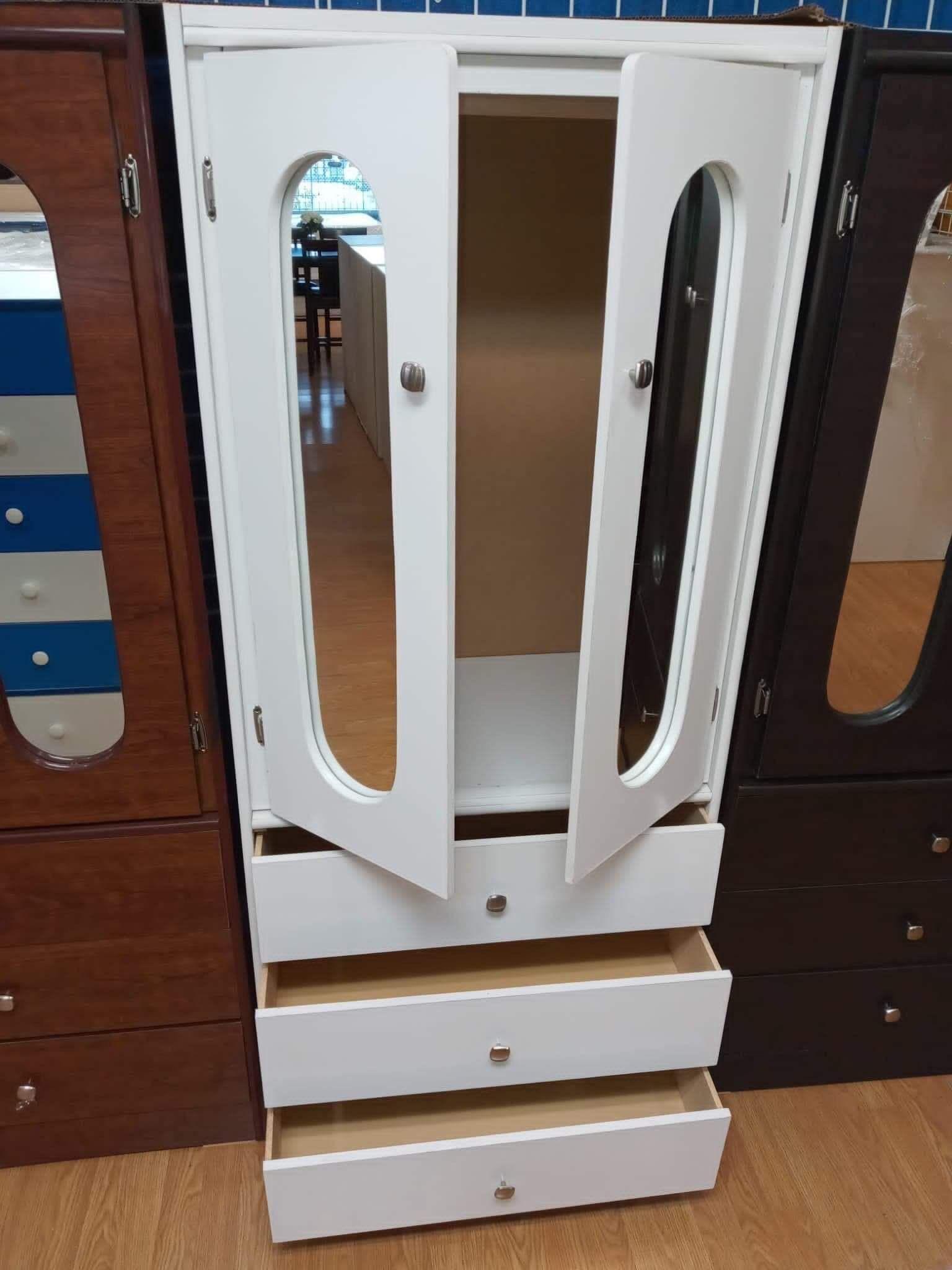 New Compressed Wood Wardrobe Closet With Mirrors