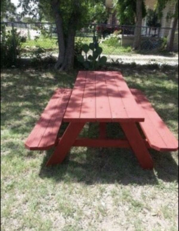NEWOutdoorinLarge Wooden Picnic Table Or Adirondack Chairs - Large wooden picnic table