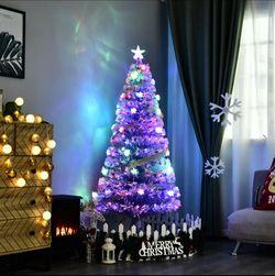 Pre-lit Fiber Optic 5' Trèè Artificial Christmas Trèè Multicolor LED Star Lights Thumbnail