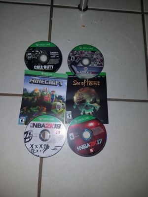 Photo 6 games plus one white controller