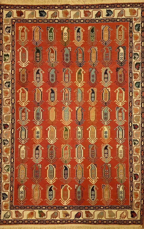 Hand woven short - napped coarse carpet (gelim) for Sale in Los ...