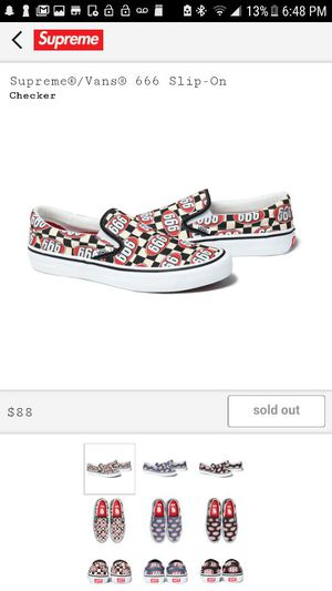 Supreme x Vans Checkered 666 Slip On Size 10.5 for Sale in Hollywood, FL OfferUp