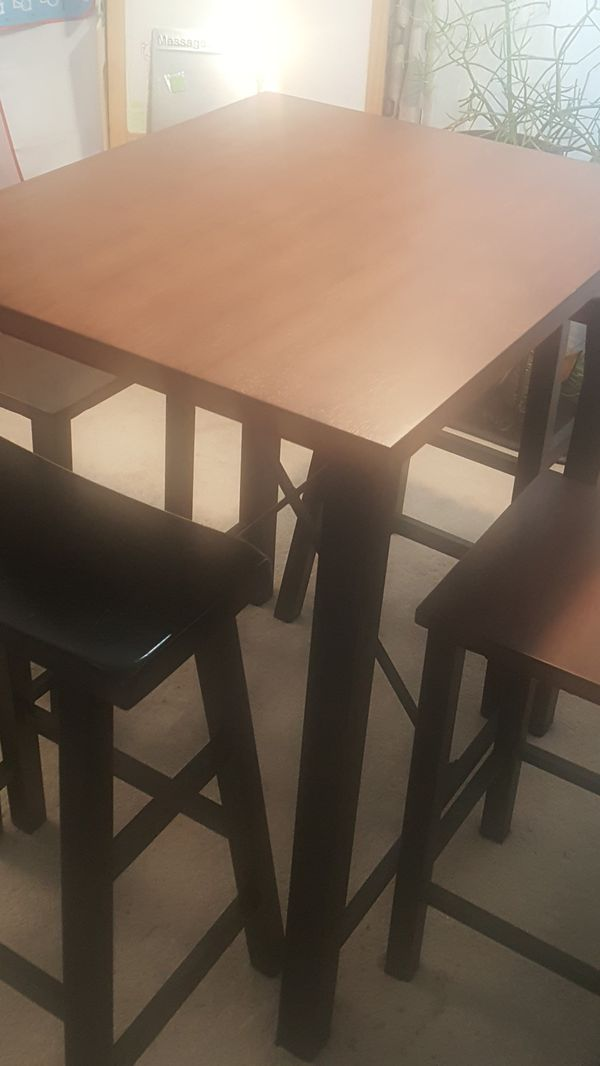 Small rectangular dining room table and stools for Sale in Denver ...