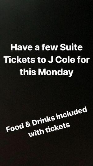 J COLE CONCERT SUITE TICKETS for Sale in Lorton, VA