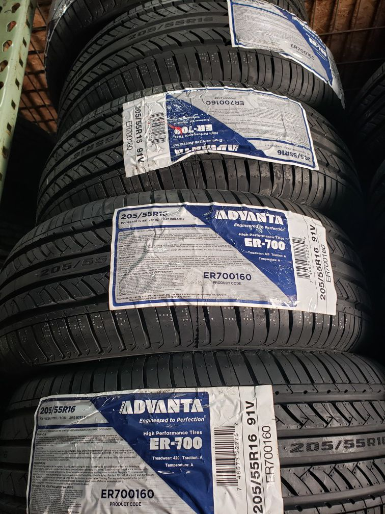 205 55 16 SET OF 4 NEW TIRES