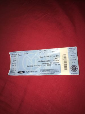 Nycfc ticket for Sale in Brooklyn, NY