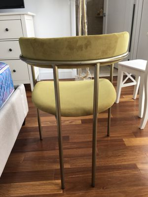 Astonishing West Elm Lenox Dining Chair Velvet Wasabi Light Broze For Caraccident5 Cool Chair Designs And Ideas Caraccident5Info