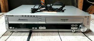 Photo Panasonic 5 Disc DVD changed VCR VHS combo no remote