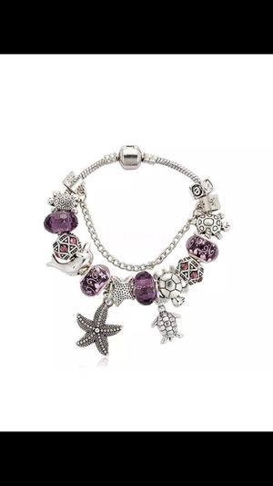 New 925 Silver And Crystal Charm Bangle Bracelet for Sale in Centreville, VA