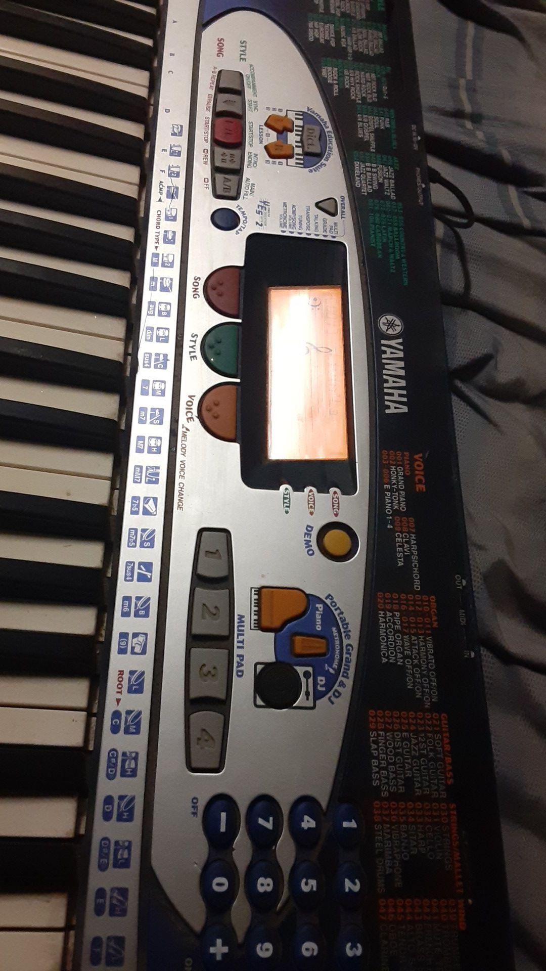 Yamaha bass boost psr 160 keyboard