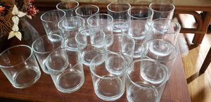 Bundle of 18 glass jar candle holder for Sale in Orlando, FL