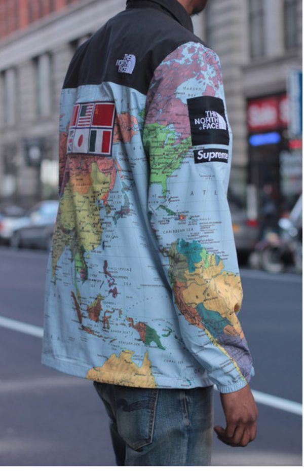 Supreme North Face Map Supreme x North Face