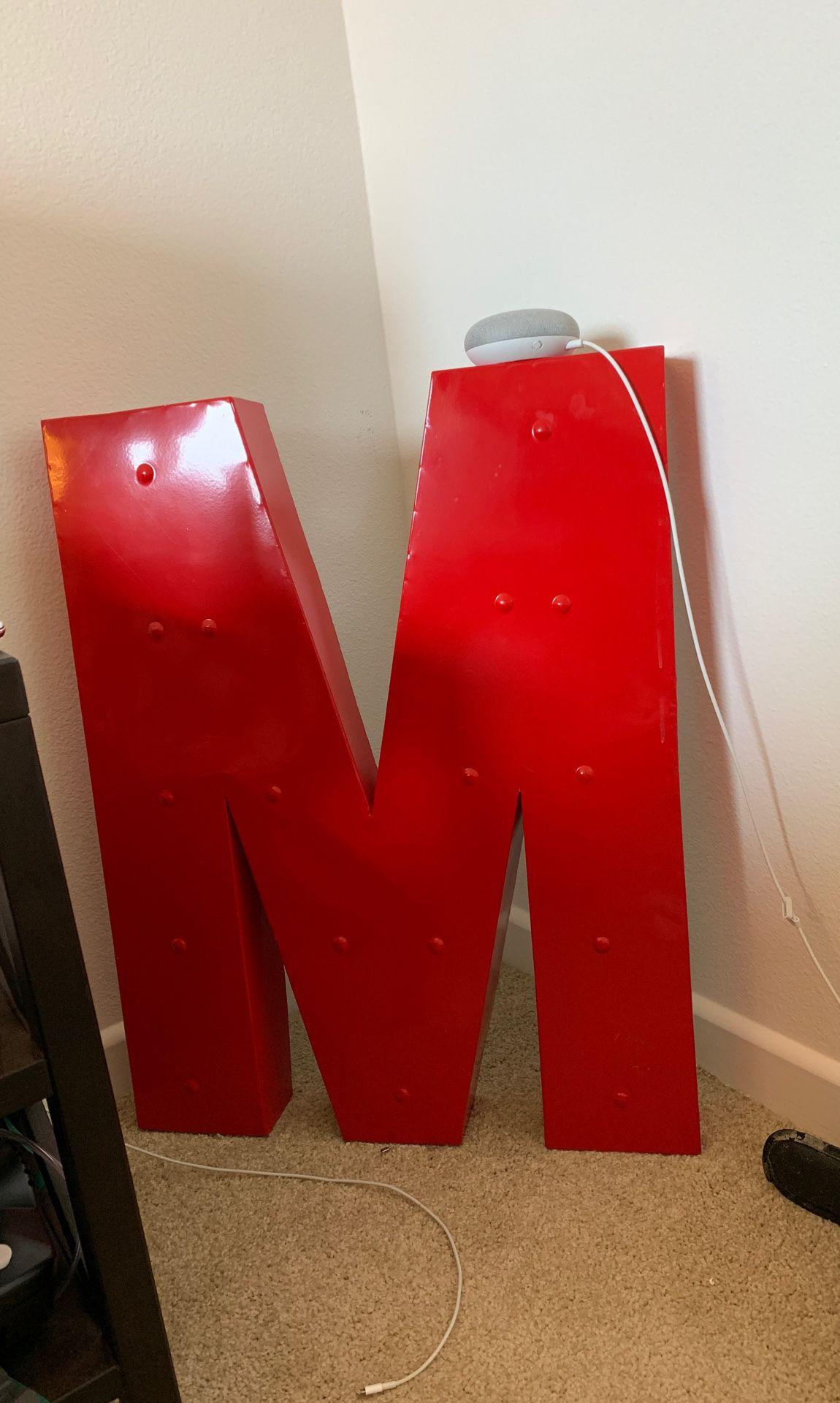 Decorative M