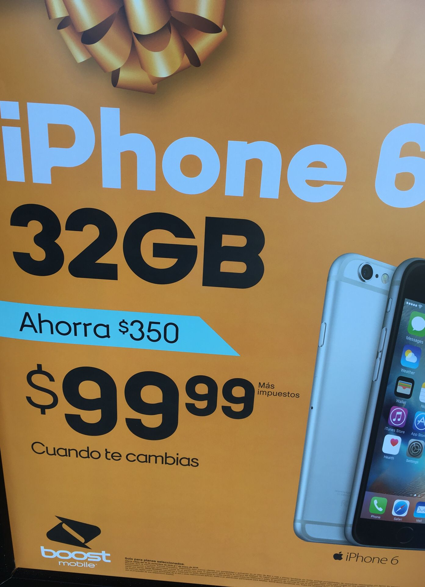 iPhone 6 32gb only $99 when you Switch