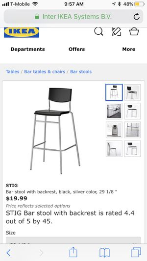 Outstanding Ikea Stig Bar Stool With Backrest Black Silver Color 29 1 Gmtry Best Dining Table And Chair Ideas Images Gmtryco