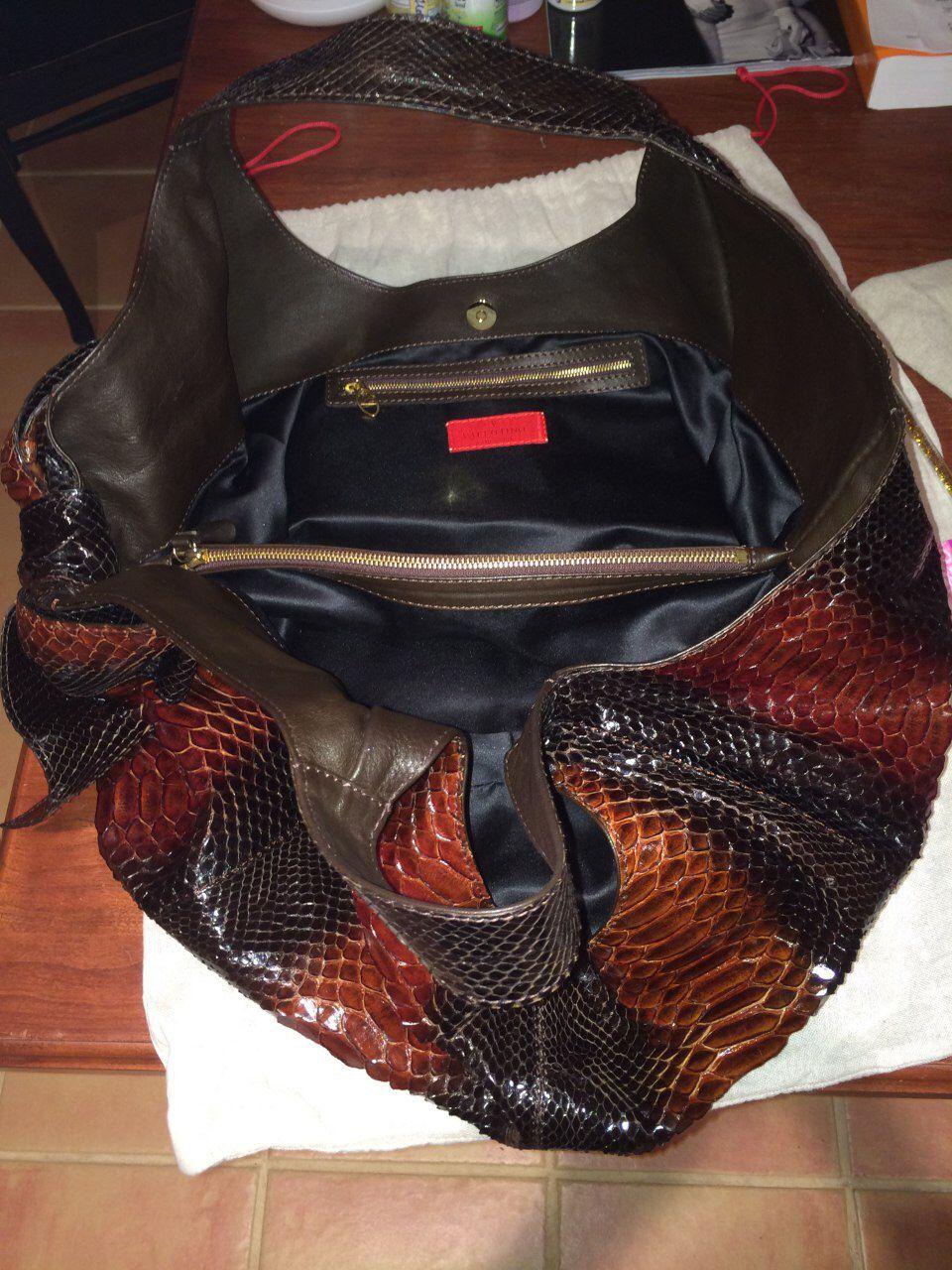 RARE Runway Snakeskin (Python) Shoulder Bag By Valentino
