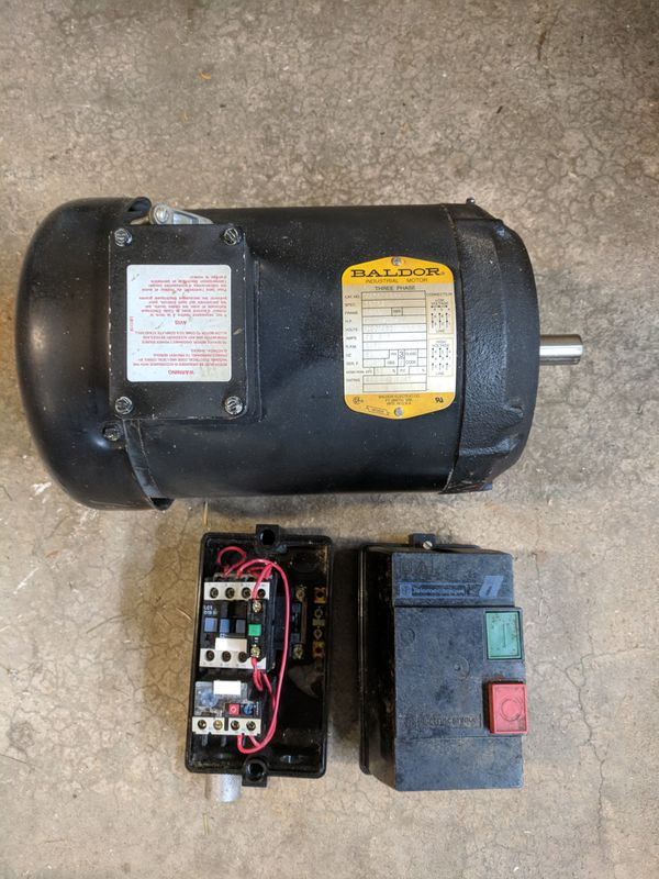Baldor 5 HP, 3 Phase Table Saw Motor for Sale in Algonquin, IL - OfferUp