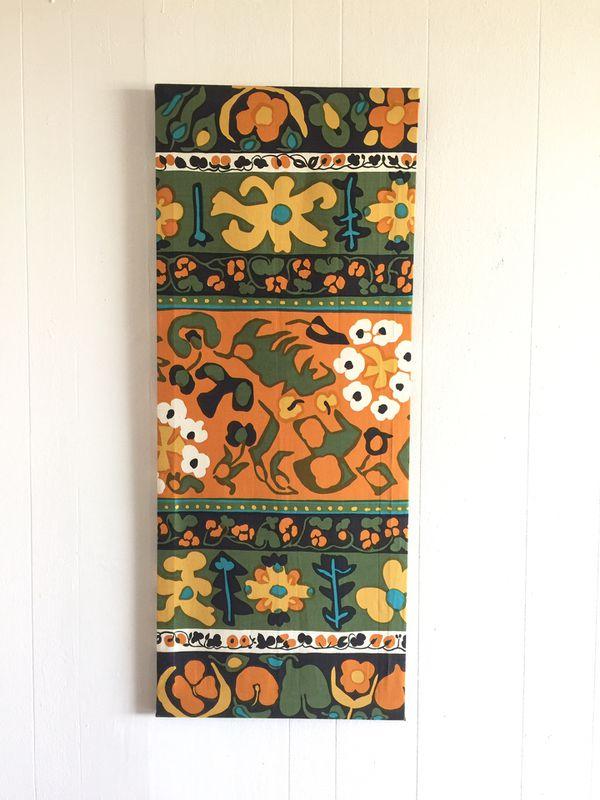 Vintage 1973 Marimekko by Suomi Finland Framed Fabric Art (Arts ...