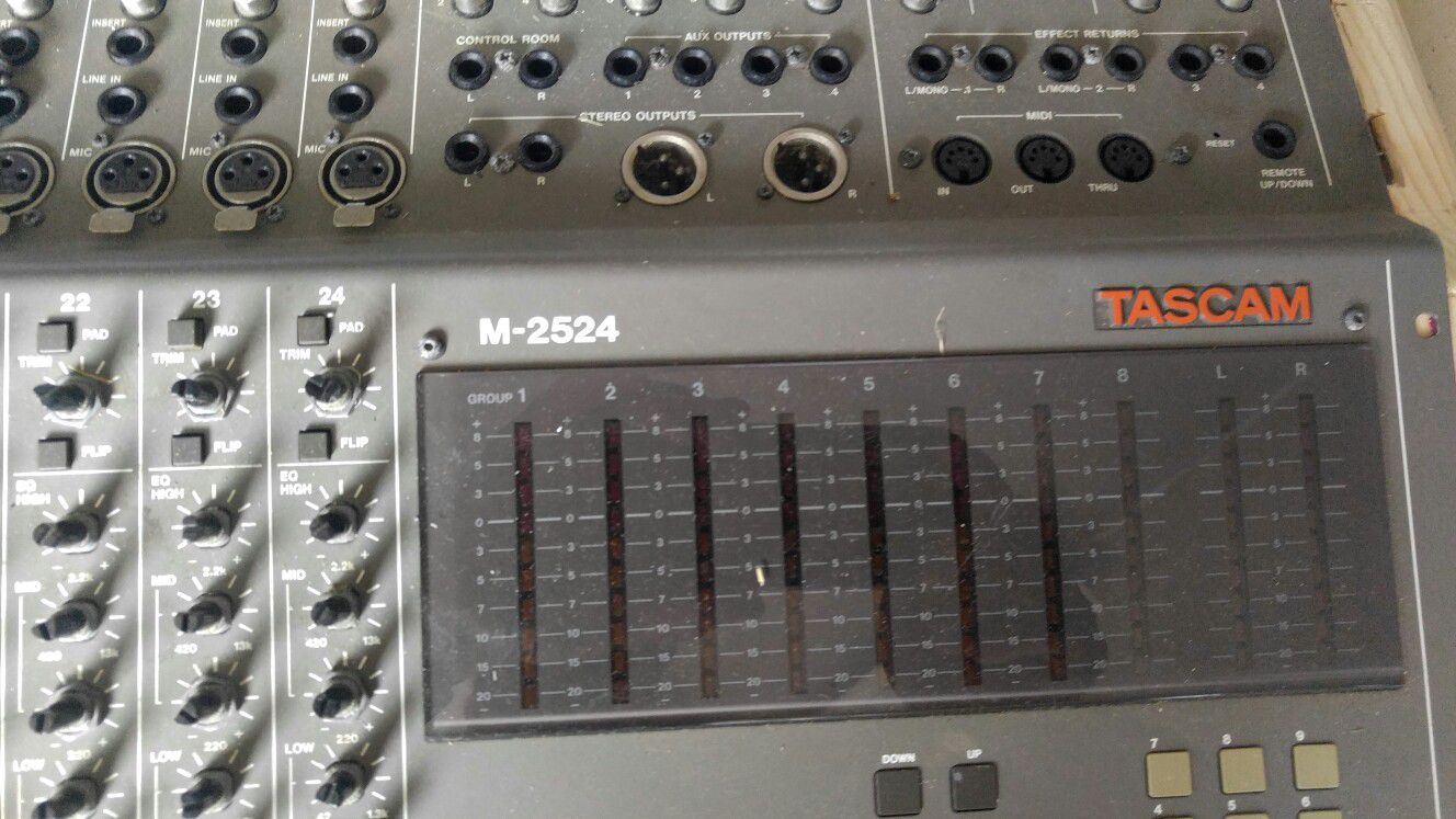 Great PA mixer for Studio or whatever you want to use it for has buttons missing a couple but otherwise in great