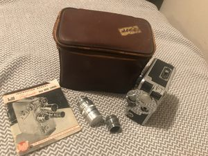 Dejur 8 Movie Camera, lenses, case, and original manual, in working condition for sale  Tulsa, OK