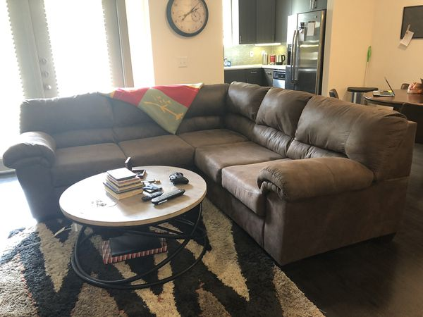 Brown Fabric Sectional For Sale In Raleigh Nc Offerup