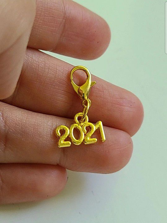 2021 YEAR PLANNER CHARM GOLD PLATED