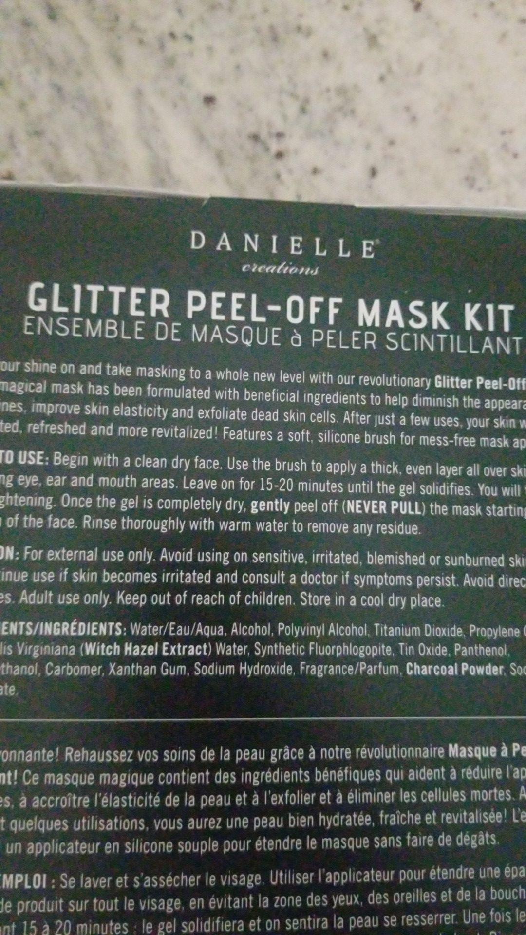 New bath fuzzies and glitter face mask set beauty lot