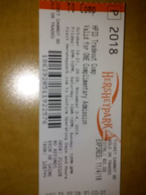 4 pack Hershey Park haunt tickets for Sale in New Britain, PA
