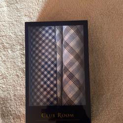 2 ct, Club Room Handkercheifs/Pocket Square Thumbnail