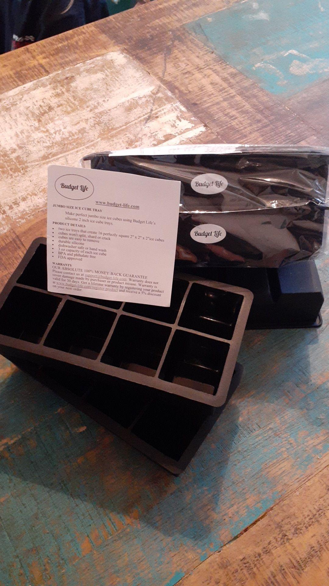 Jumbo size ice tray- Budget Lifes silicone 2 inch ice cube trays