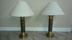 2 solid copper and brass lamps for Sale in Silver Spring, MD