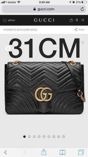 Gucci GG Mormont Large Shoulder bag , men's genuine name brand belt, everything new out of the box for Sale in Temple Hills, MD
