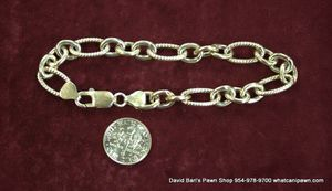 "925 Sterling Silver 8"" Fancy Link Bracelet for Sale in North Lauderdale, FL"