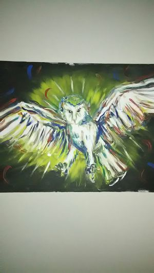 """18"""" x 24"""" beautiful owl painting for Sale in Fuquay Varina, NC"""