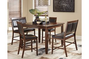 Ashley Furniture brown color 5 piece counter height dining table set for Sale in Takoma Park, MD
